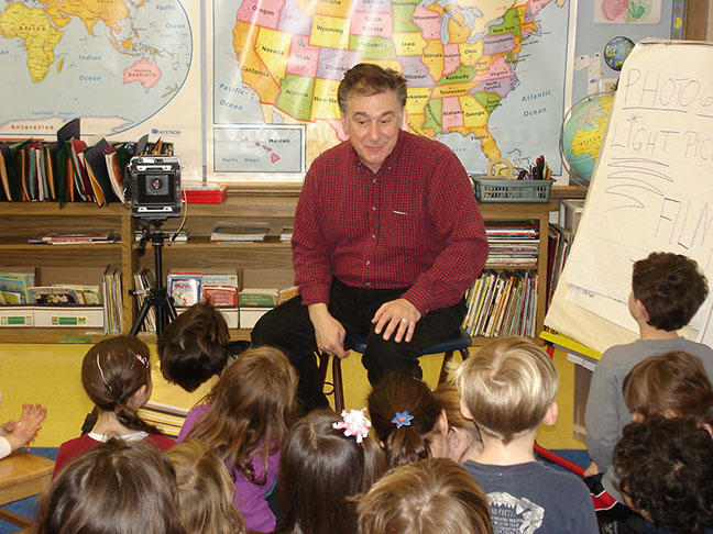 Joseph Squillante in classroom